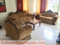 Juego de muebles en caoba