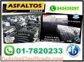 ASFALTO EN FRIO, POR CUBOS Y SACOS DE 50 KILOS. TELF. 01-7820233.