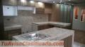 Muebles Cocina-closet-puertas Termolamindas- Granito importado, grano lavado