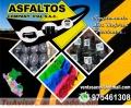 VENTA DE BITUMEN , ASFALTO RC-250 , EMULSION LENTA  TRABAJOS DE ASFALTADOS SLURRY SEAL