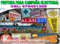 Venta de pintura acento para campaña electoral pedidos 97546138  stock permanente