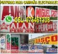 Venta de pintura  para campaña politica , elecciones electorales 2018  cel: 975461308