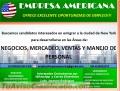 Vacantes Disponibles en las Areas de MERCADEO, VENTAS Y NEGOCIOS