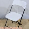 Venta de sillas blancas plegables