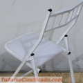 Silla Tiffany plegable color blanco