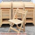 Sillas plegables de madera