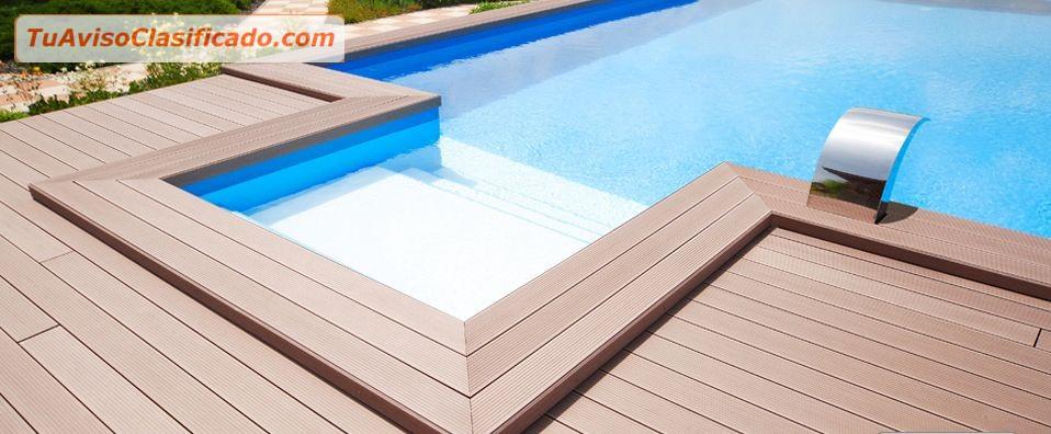 Madera sintetica para piscina jacuzzi terrazas areas de - Jacuzzi para terrazas ...