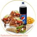 Extenso menú de comida turca