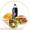 Delicias en kebab Durum y postres arabes