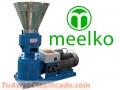 Maquina Meelko para pellets con madera 150 mm electrica 60/90 kg h