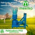 Peletizadora Meelko 260 mm 35 hp PTO para concentrados balanceados 450-600kg
