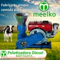 Peletizadora Meelko 120 mm 8 hp DIESEL para concentrados balanceados 60-100 kg/h - MKFD120