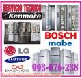 SERVICIO TÉCNICO DE REFRIGERADORAS KENMORE 993-076-238