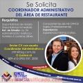 Coordinador de servicios del área de Restaurante