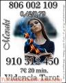 TAROT LINEA 806002109   tarot económico VISA 9€ 30 MIN.910312450