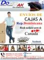 Envio de cajas desde Canada hasta Republica Dominicana