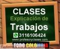 Profesor particular Finanzas en Medellin Contabilidad Excel Estadistica. Clases, Trabajos