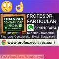 Clases particulares Contabilidad a domicilio en Medellin Finanzas Excel Estadistica