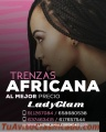 Trenzas africanas con forma y estilo