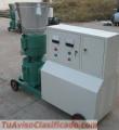 Maquina Peletizadora Meelko para pellets con madera 300 mm electrica 250/400 kgh