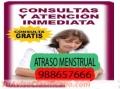 Atraso Menstrual 988657666, Ate Vitarte