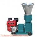 Peletizadora Meelko 120 mm 7.5 hp GASOLINA para concentrados balanceados 60-100kg