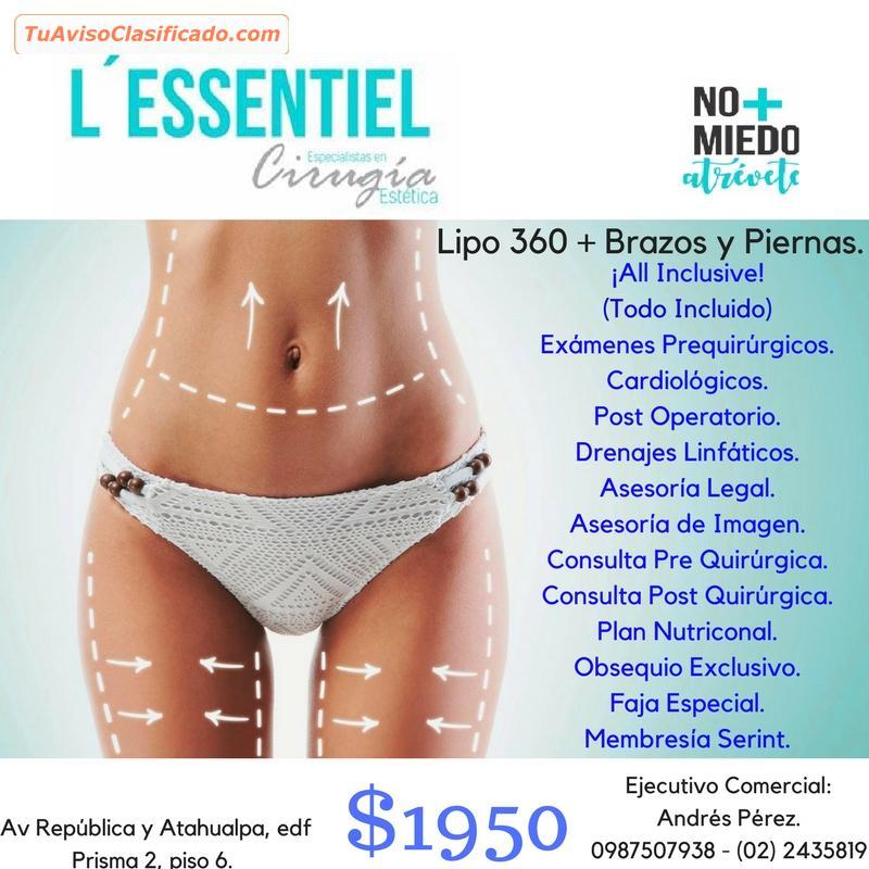 Lipo total 360 + Brazos y Piernas  - Salud y Belleza > Otros -