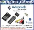 Capturadora De Tv Usb Advantek Tv Turner Fm Radio Control R + CD-ROM