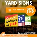Yard signs for sale