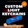 Flashlight keychain with logo  | Phone: (773) 877-3311