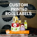 Custom Printed Roll Labels