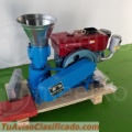 Maquina Meelko para pellets con madera 150 mm diesel 60-70 kg/h - MKFD150A