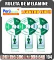 Ruleta de melamine para activaciones publicitarias centro fijo