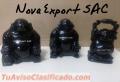 Budas de la fortuna hechos a mano en piedra onix y piedra jabón, en tallas 10 Y 12 Cm.