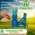 Maquina para pellets con madera 200 mm PTO 80-120 kg/h - MKFD200P