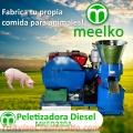 Meelko Peletizadora 230 mm 22 hp DIESEL para concentrados balanceados MKFD230A