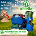 Maquina Meelko para pellets con madera 230 mm diesel 120-200 kg/h - MKFD230A