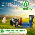 Peletizadora Meelko 260 mm 35 hp DIESEL para concentrados balanceados 450-600 kg/h - MKFD2