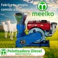 Máquina de hacer pellets de concentrados balanceados 120 mm DIESEL - MKFD120A