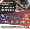 981091335// Servicio técnico especializado de Lavadoras White Westinghouse. Miraflores