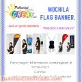 BANDEROLAS PUBLICITARIAS, PAREDES PUBLICITARIAS Y MOCHILA FLAG BANNER.