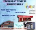 FACHADAS Y CENEFAS PUBLICITARIAS, DENTRO Y FUERA DE LA CAPITAL