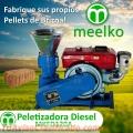 Peletizadora Meelko 120 mm 8 hp DIESEL para concentrados balanceados 60-100 kg/h
