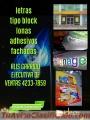 LETRAS TIPO BLOCK Y MAS LLAMA AL:42337859
