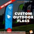 Custom outdoor flags
