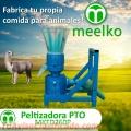 Peletizadora Meelko 260 mm 35 hp PTO para concentrados balanceados 450-600kg MKFD260P