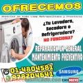 (7576173-4804581)Reparaciones De LAVA SECAS Y LAVADORAS Samsung-> En Indepedencia