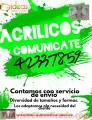 Elaboración de Acrílicos Comunícate al:42337859