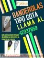 Banderolas Tipo gota full color Comunícate al:42337859