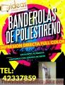 Banderolas de Poliestireno full color tel:42337859